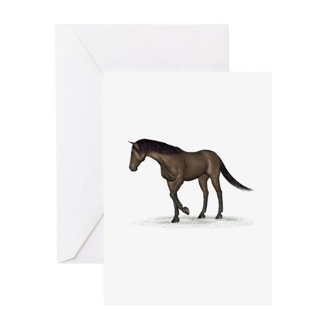 Horse (Brown) Greeting Card