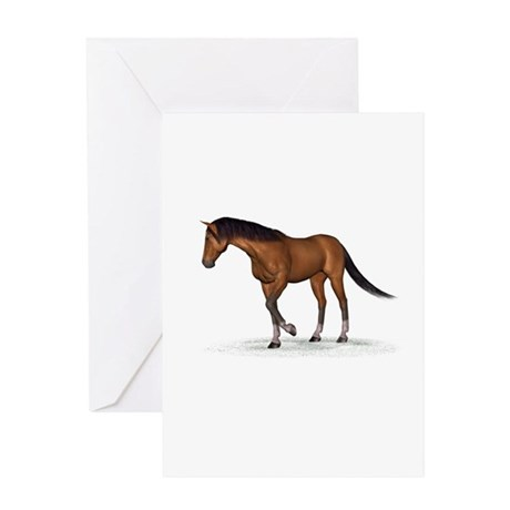 Horse (Bay) Greeting Card