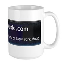Large New York Music Coffee Mug