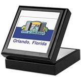 Orlando FL Flag Keepsake Box