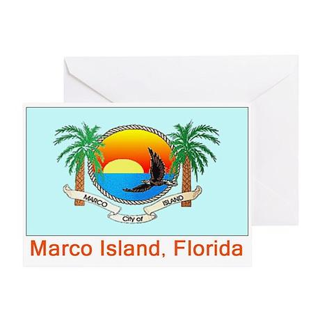 Marco Island FL Flag Greeting Card