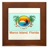 Marco Island FL Flag Framed Tile