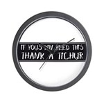 Thank A Teacher Wall Clock