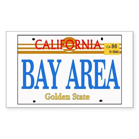 BAY AREA -- LINCENSE PLATE Rectangle Sticker