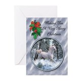 Christmas new  year cards Greeting Cards (20 Pack)