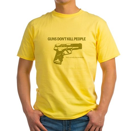 Guns Don't Kill People Yellow T-Shirt