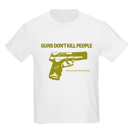 Guns Don't Kill People Kids Light T-Shirt