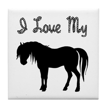 Love My Pony Tile Coaster