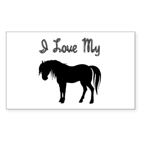 Love My Pony Rectangle Sticker