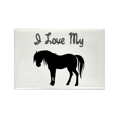Love My Pony Rectangle Magnet