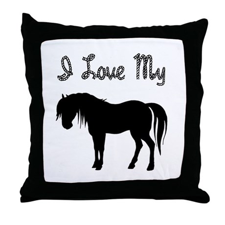 Love My Pony Throw Pillow