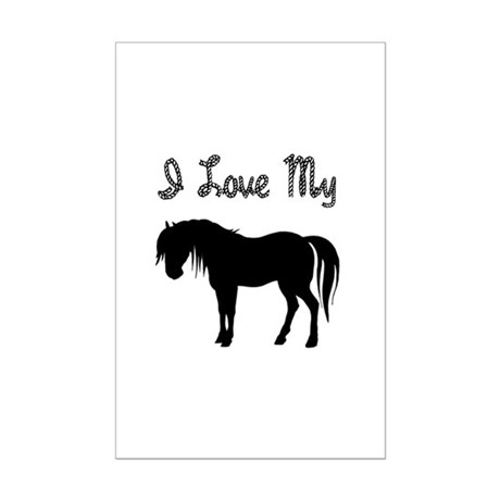 Love My Pony Mini Poster Print