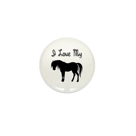 Love My Pony Mini Button