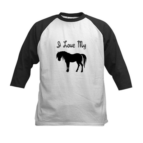 Love My Pony Kids Baseball Jersey
