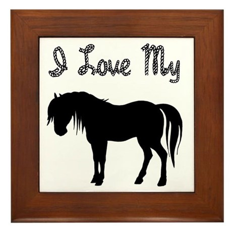 Love My Pony Framed Tile