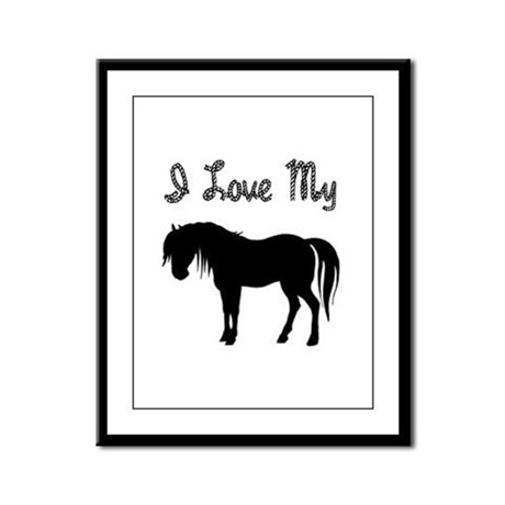 Love My Pony Framed Panel Print