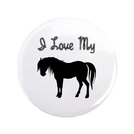 "Love My Pony 3.5"" Button (100 pack)"