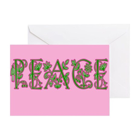 Floral Peace Greeting Card