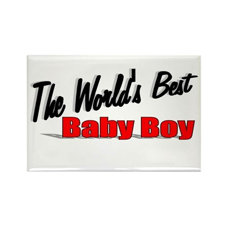 &quot;The World's Best Baby Boy&quot; Rectangle Magnet