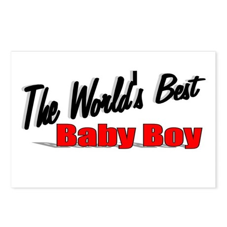 &quot;The World's Best Baby Boy&quot; Postcards (Package of
