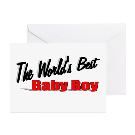 &quot;The World's Best Baby Boy&quot; Greeting Cards (Pk of