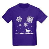 Winter Snowflakes White Horse. T