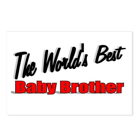 """The World's Best Baby Brother"" Postcards (Package"