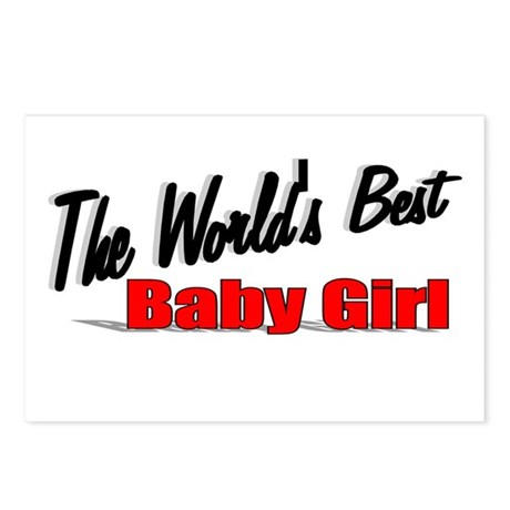 """The World's Best Baby Girl"" Postcards (Package of"