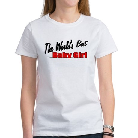 """The World's Best Baby Girl"" Women's T-Shirt"