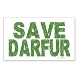 Save Darfur 1 Rectangle Decal