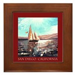 San Diego Souvenir Framed Tile