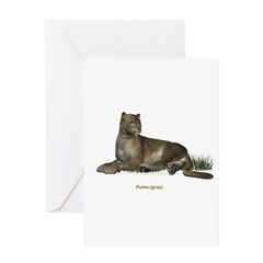 Puma (Grey) Greeting Card