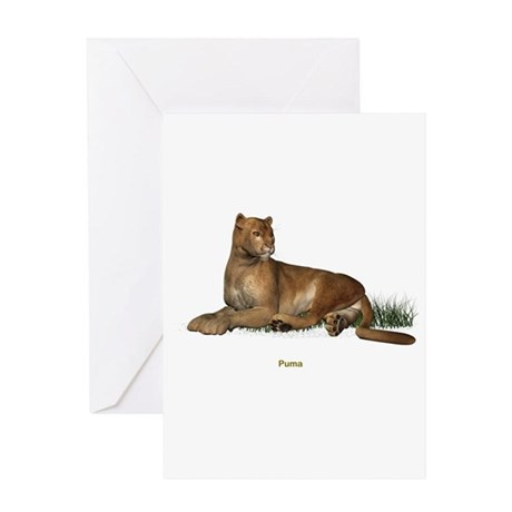 Puma Greeting Card