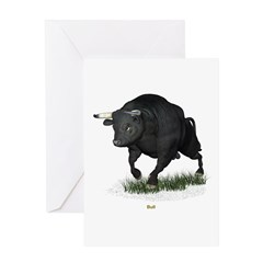 Bull Greeting Card