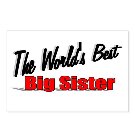 """The World's Best Big Sister"" Postcards (Package o"