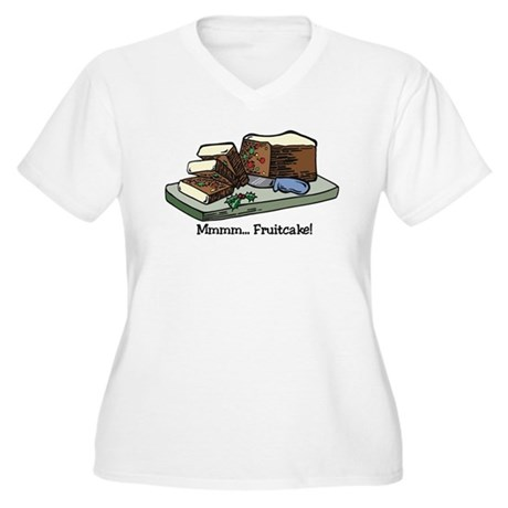Mmmm Fruitcake Women's Plus Size V-Neck T-Shirt