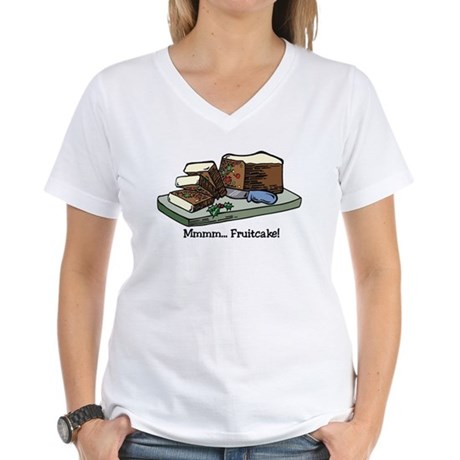 Mmmm Fruitcake Women's V-Neck T-Shirt