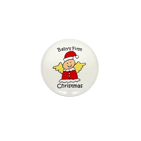 Baby's First Christmas Mini Button