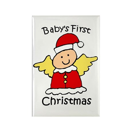 Baby's First Christmas Rectangle Magnet