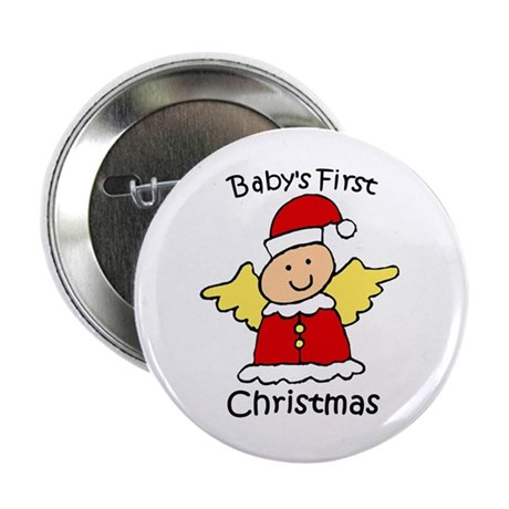 "Baby's First Christmas 2.25"" Button"