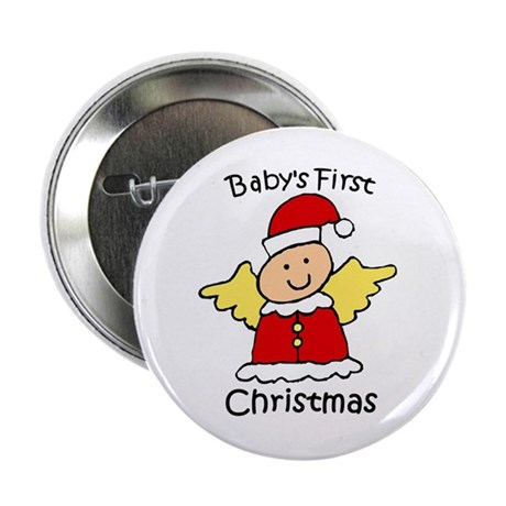 "Baby's First Christmas 2.25"" Button (10 pack)"