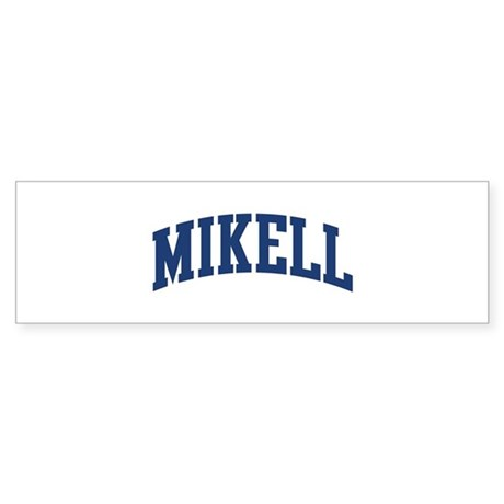 MIKELL design (blue) Bumper Sticker