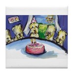 Wheatie b-day party Tile Coaster
