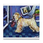 Wheaten greetings Tile Coaster