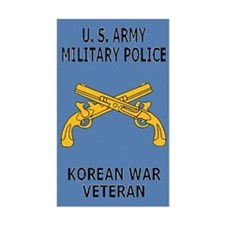 Army MP <BR>Korean War Decal