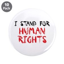 "Human Rights 3.5"" Button (10 pack)"