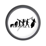 Motorbike Evolution Wall Clock