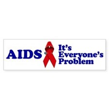 AIDS RIBBON Bumper Bumper Sticker