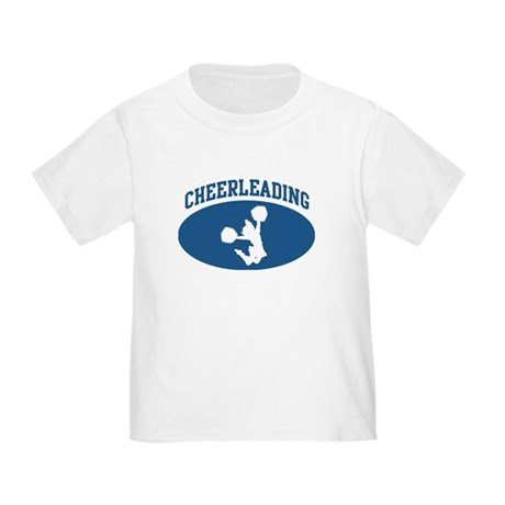 Cheerleading (blue circle) Toddler T-Shirt