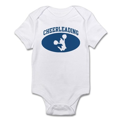 Cheerleading (blue circle) Infant Bodysuit